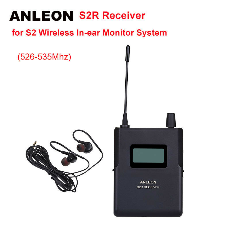 ANLEON S2-R Receiver For Wireless Personal In-ear System Earphones 526-535Mhz