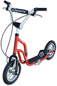 Scooter Enfants Scooter Master Ride 12 pouces Scooter Scooter Scooter Rouge-noir