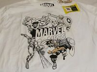 Marvel Comics Uv Ink With Color Glow In Dark Xl White Boy's Kids Youth Rare