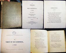 1811 SIR WALTER SCOTT VISON OF DON RODERICK 1st ED SCOTLAND BALLANTYNE
