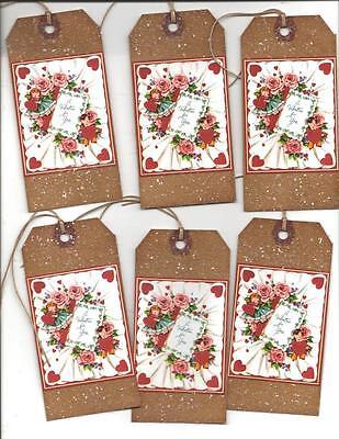 12 PRIMITIVE TAGS~Valentine Primitive~A Valentine for You!