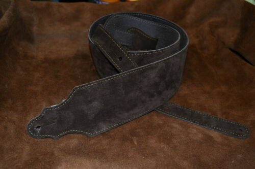 Franklin Leather Guitar Strap 3C-CH -G, Chocolate Suede Strap