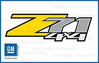 Set Of 2: 2007 <-> 2013 Chevy Silverado Z71 4x4 Decals - Fy - Stickers Yellow