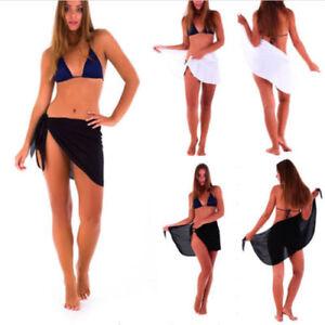 57adae5ff8a7d Women Sexy Chiffon Bikini Cover Up Swimwear Beach Scarf Pareo Sarong ...