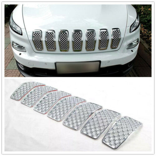 For Jeep Cherokee 2014-2018 Chromed Front Grille Inserts Mesh Grill Accessories