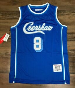Details about NEW Kobe Bryant #8 LA Crenshaw Blue Basketball Jersey by Headgear Classics