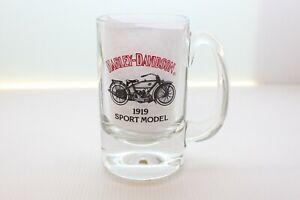 Harley-Davidson-Glass-Mug-W-1919-Sport-Model-depicted