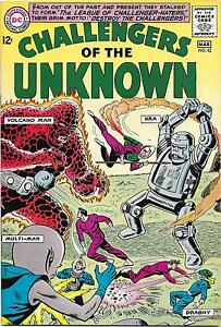 Challengers of the Unknown #42, DC Comics 1965, Bob Brown art VF-