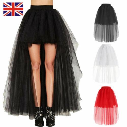 Women Lady Tutu Tulle Skirt Petticoat Ballet Dress Princess Party Wedding Black