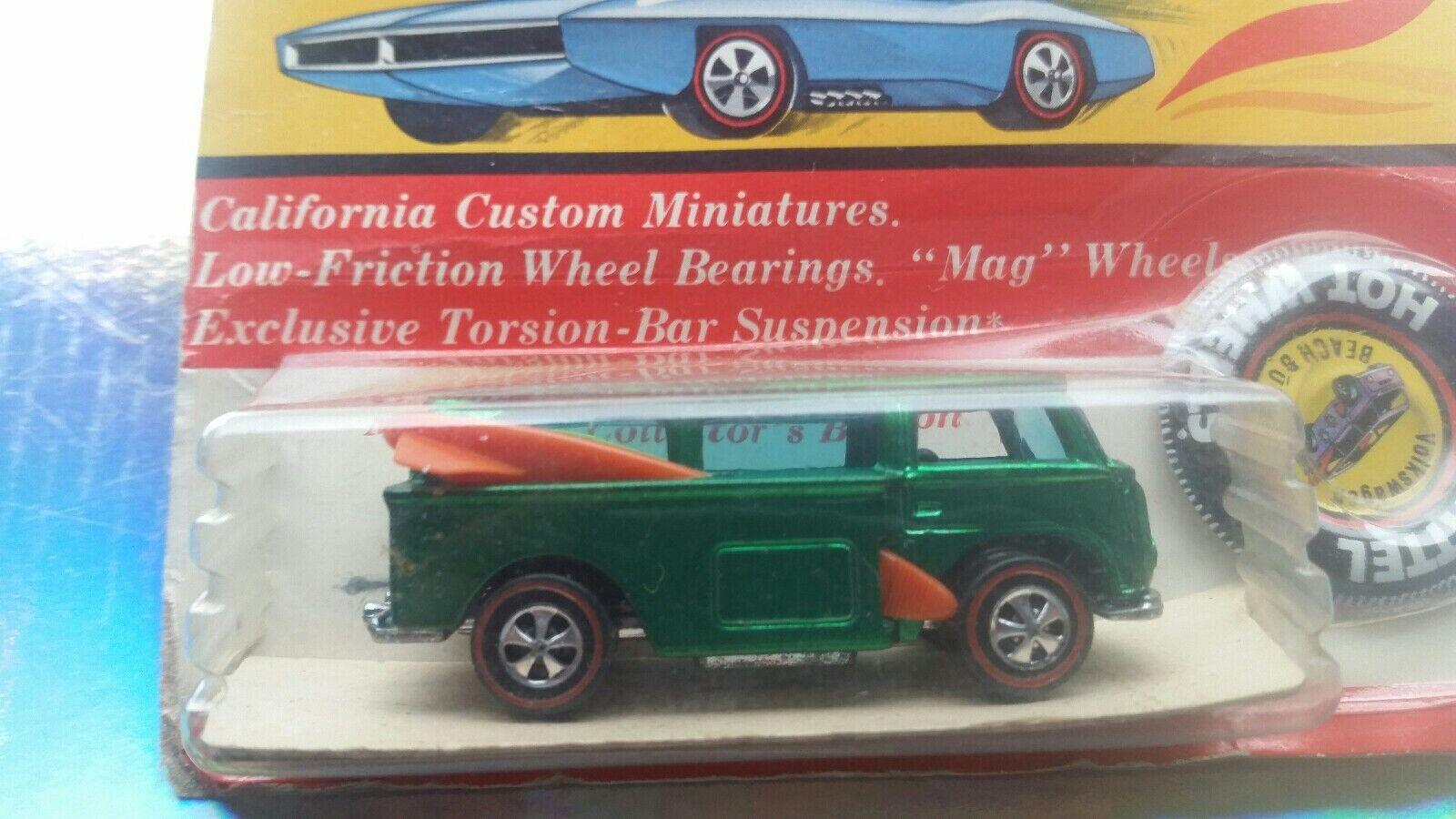 Blister de 1969  rojoline     Bomba De Jugara Bp Vw Hot Wheels   Original Rara  VHTF  Coleccionable