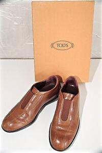 luxueux-mocassins-sans-lacets-cuir-marron-TOD-039-S-benson-pointure-35-5-EN-BOITE