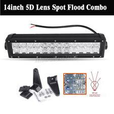 5D Lens 16800LM 168W 12Inch OSRAM Led Bar Car Work Light Offroad Combo Beam Lamp