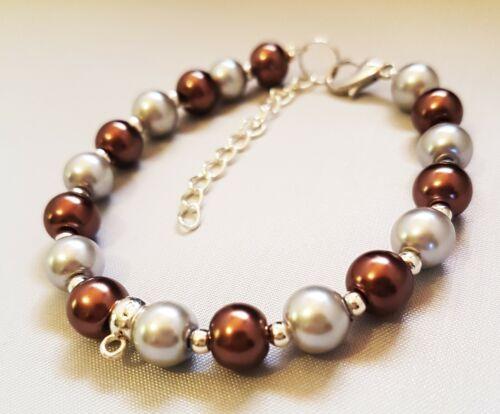 bridesmaid wedding favor  bead pearl bracelet present bling  gift boxed