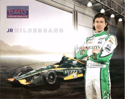 2017 JR HILDEBRAND INDIANAPOLIS 500 HERO PHOTO CARD INDY CAR FUZZY/'S VODKA RACE