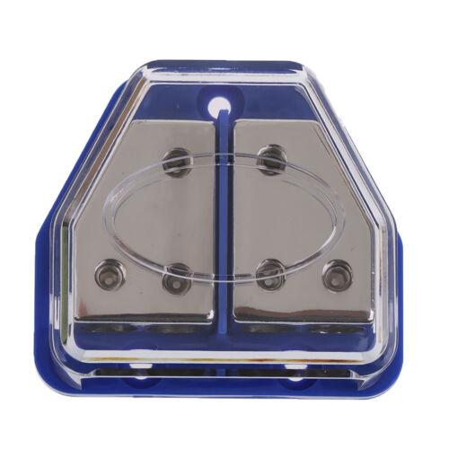 4-Way Car Audio Stereo Power//Ground Cable Splitter Distribution Block 8ga