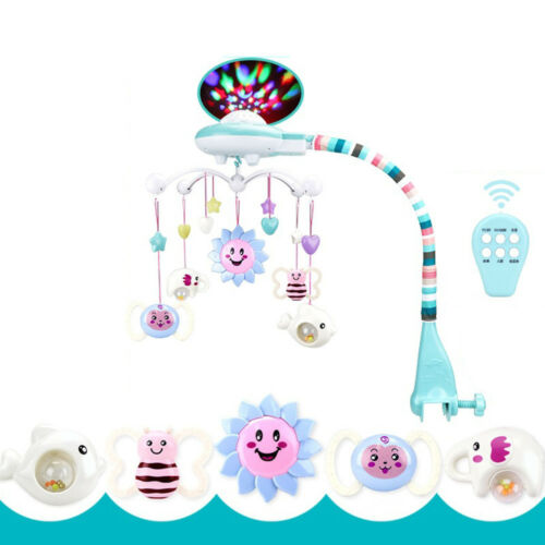 Baby Musical Crib Bed Cot Mobile Stars Dreams Light Flash Nusery Lullaby Toy