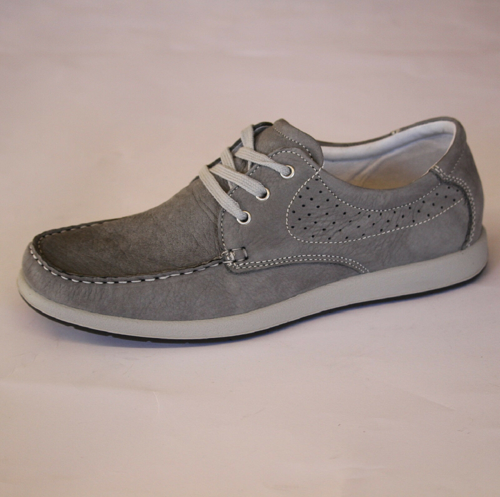 Scarpe casual da uomo  IMAC scarpa italiana primavera-estate UOMO morbida pelle gomma grigio 101590