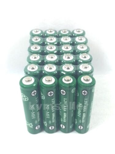 24 pcs Rechargeable NiMH AAA 600mAh Ni-mh Batteries for Solar-Powered Light H24