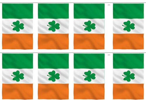 8 Flags Irish Ireland Shamrock Country 12x18 Bunting String Flag Banner