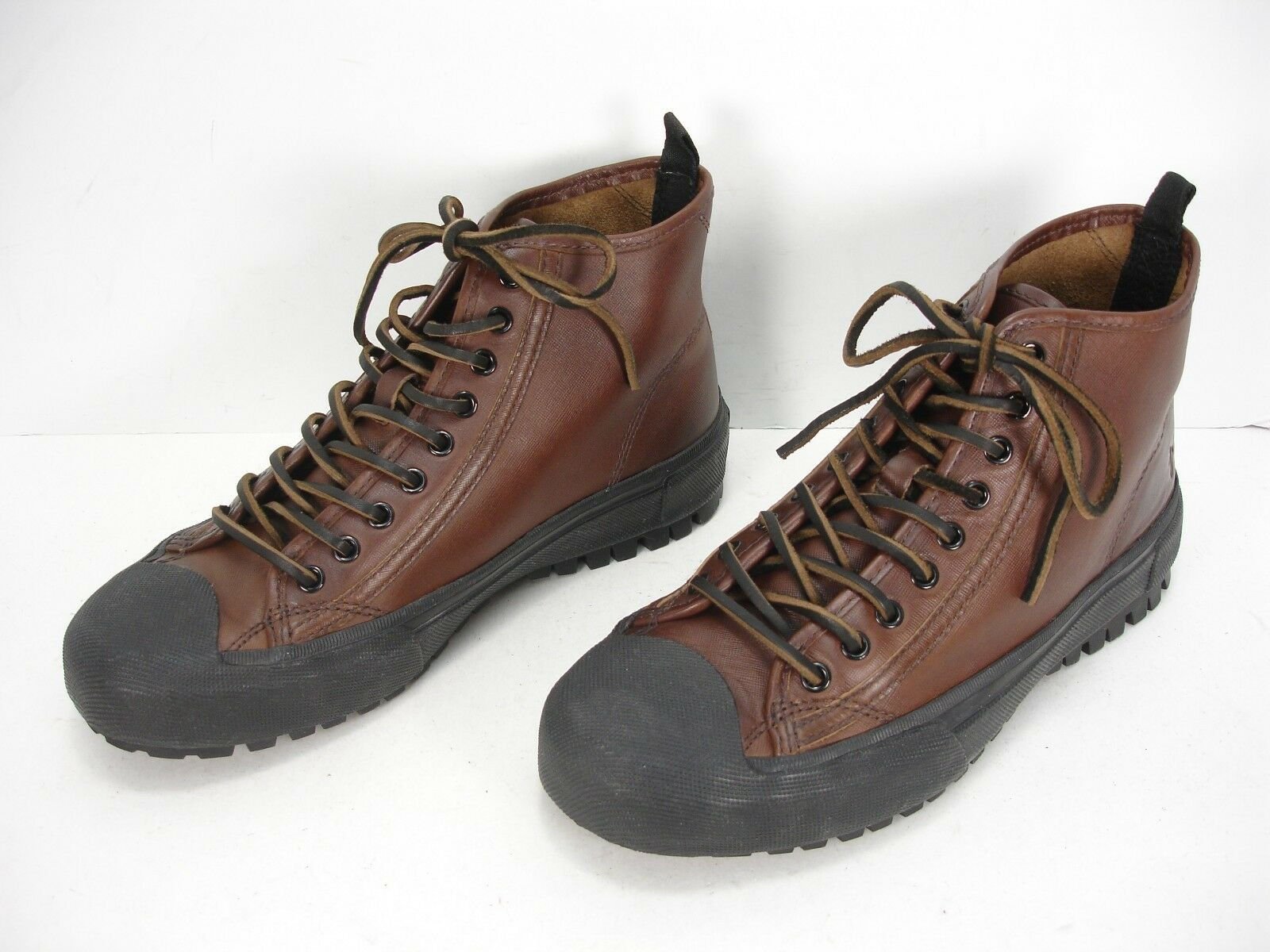 FRYE RYAN LUG MIDLACE 3481153 BROWN LEATHER FASHION SNEAKERS SHOES MEN'S 7