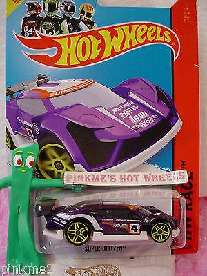 Gehäuse B 2014 Hot Wheels Super Blitzen #163 Us Lila/weiß 4 Track Aces Profitieren Sie Klein Modellbau Auto- & Verkehrsmodelle