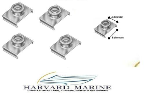 """Lot of 10 3//4/""""  BOAT CANVAS COVER TOP WINDSHIELD STAINLESS SNAP CLIP STUDS"""