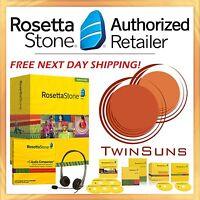 Rosetta Stone® 1 2 3 4 5 French Homeschool Full Set + Headset + Audio Cds