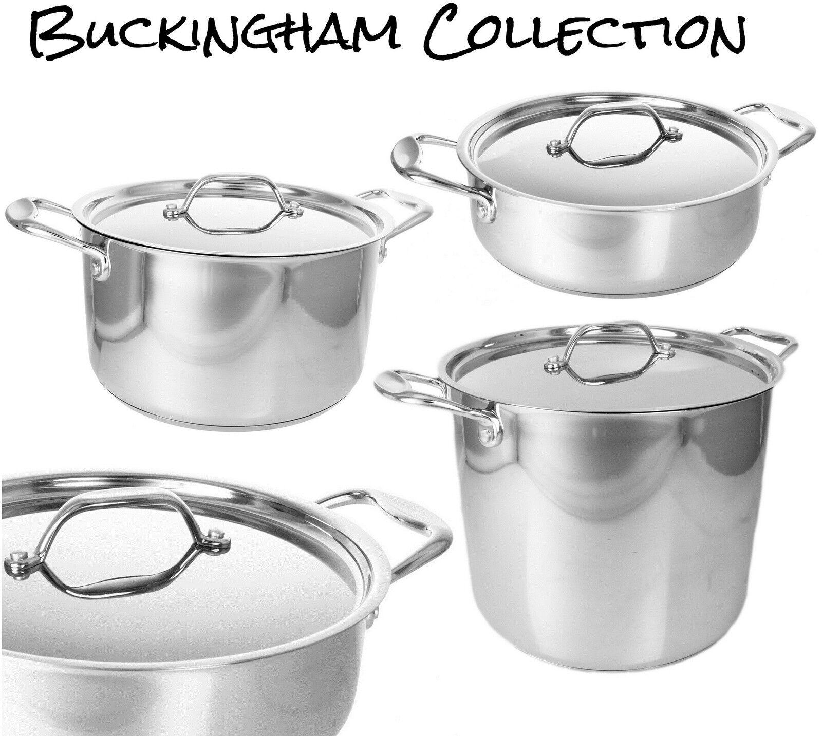 Buckingham prestage induzione S   ACCIAIO CASSEROLE STOCK Soup Pot stufato Saute Pan