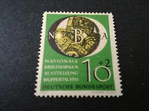 Briefmarke-Bund-Mi-Nr-141-postfrische-Faelschung-Nachdruck-Faux