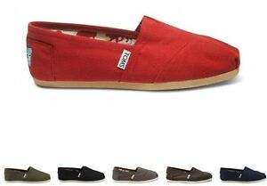 Toms-Womens-Classic-Canvas-BLACK-GRAY-RED-BLUE-coffee-Free-Ship