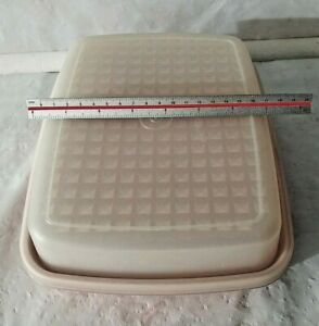 Vintage Tupperware Container With Lid Meat Holder/Tenderize +Marinate 1518 -1519