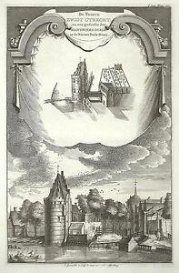 Antique-map-De-Tooren-Zwigt-Utrecht