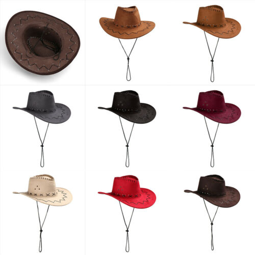 New  Womens Mens Hat Wild West Fancy Cowgirl Cowboy Hats Western Headwear Cap