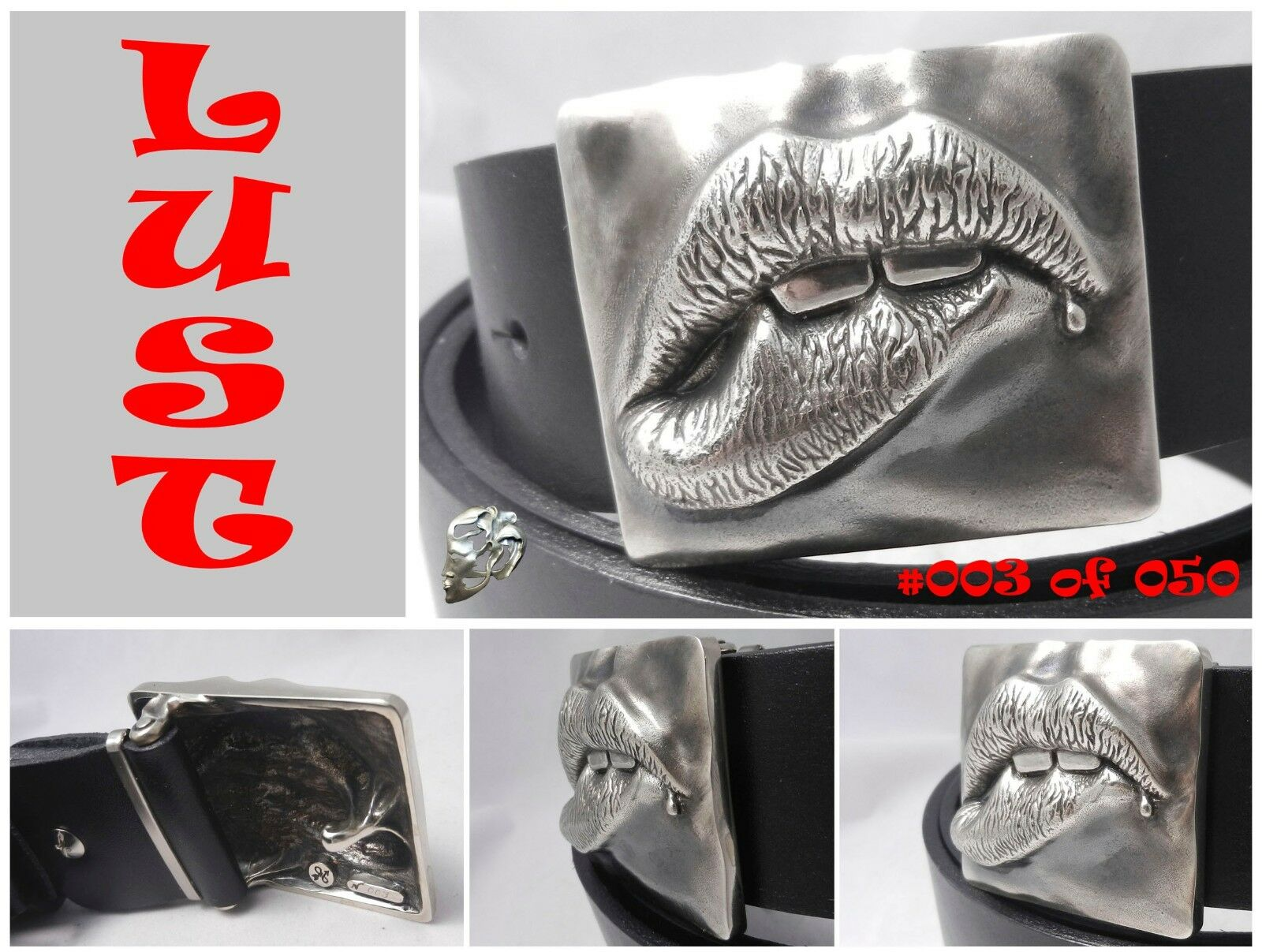 Lust Buckle Limited Edition with FREE Leather strip, Nickel-silver