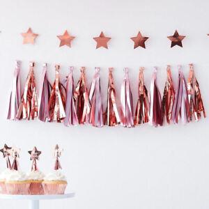 Pink-amp-Rose-Gold-Tassel-Garland-Baby-Shower-Party-Decoration-Girls-Birthday-1-5m