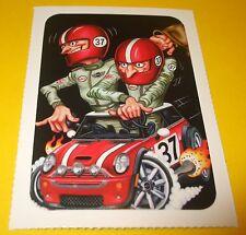 """Vtg MiNi COOPER Collectible Trading Card Sticker~MONTE CARLO MINI~LET'S MOTOR~3"""""""