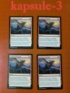 4x-Sarkhan-039-s-Triumph-Dragons-of-Tarkir-MTG-Magic-Cards