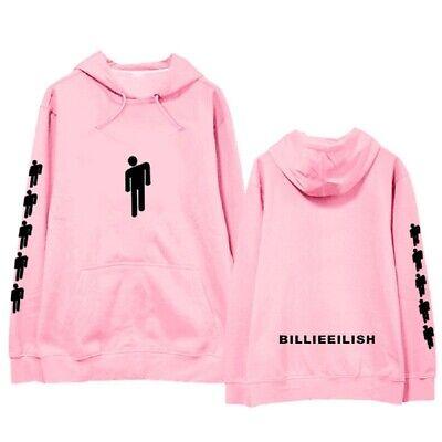 Billie Eilish off-the-shoulder hoodie women/'s sweater loose pullover jacket