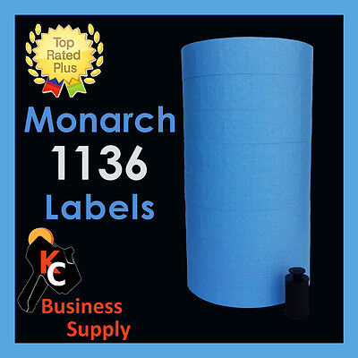 Monarch 1131 price gun BLUE labels,1 sleeve Made in USA ink roller included