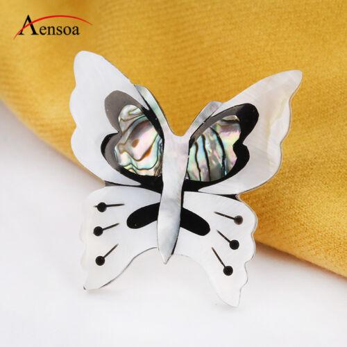 TRENDY Femmes Broche Handmade Natural Shell Papillon Insecte Broche Pins Bijoux