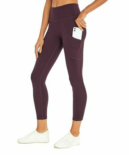 Balance Collection High Waisted Pocket Cropped Leggings Size S   EUC Purple SOFT