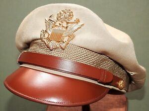 US-Army-AAF-WW2-PILOT-BANCROFT-FLIGHTER-TROPICAL-WOOL-034-50-MISSION-034-CRUSH-CAP-Hat