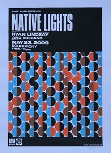 Unwed-Sailor-Native-Lights-Show-Poster-Denny-Schmickle-18x24-Hand-Screened