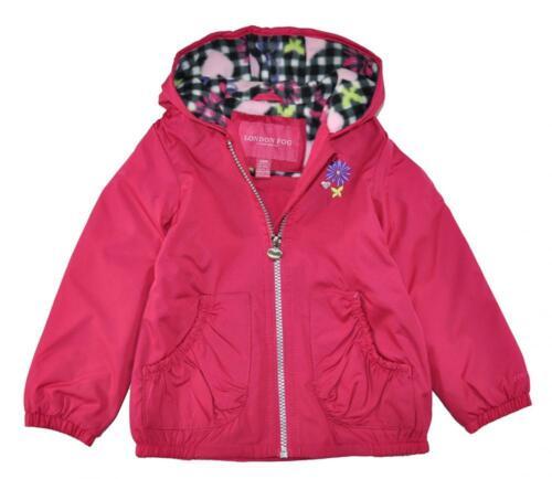 London Fog Infant Girls/' Fuchsia Fleece Lined Jacket Size 12M 18M 24M