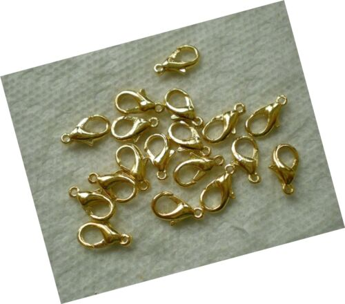 Gold Beading Station 50-Piece Lobster Claw Clasps for Jewelry Making 12mm
