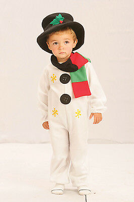 Snowman Xmas Christmas Onesie Toddler Fancy Dress Costume Age 2 - 4 P8100