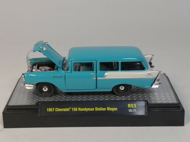 M2 Machine 1:64 1957 Chevrolet 150 Handyman Station Wagon Diecast model car