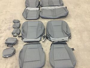 Details About Factory Oem Cloth Covers Medium Grey Ford F150 Xlt Super Crew Buckets 2019
