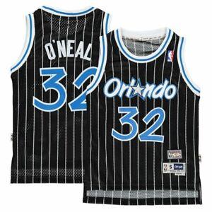 210a93bbd2f BOYS SIZES 8-20 Shaquille O Neal Orlando Magic Black Pinstripe ...