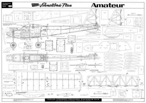 Graupner Amateur plan avec pièces Patterns